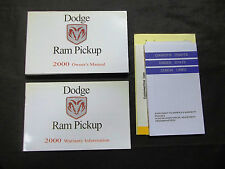 2000 Dodge Ram Gas Owners Manual Book Kit With Clear Case Second Edition
