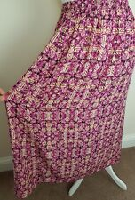 NEW LOOK Pink Orange Patterned Long Straight Maxi Skirt Holiday 10 Modest Cool
