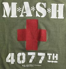 Vintage Mens M/L 1981 MASH 4077th TV Show Medic Thin Green Classic T-Shirt