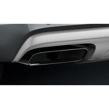 Original Audi Q7 (4M) Sport Endrohrblenden 3.0 TFSI schwarz verchromt Exterieur