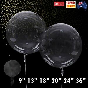 Jumbo Clear Large Round BOBO Bubble Balloons Transparent Weddings Party AUS
