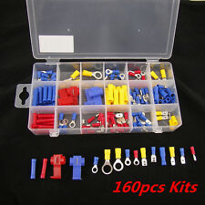160Pcs Car Heat Shrink Wire Connector Spade Bullet Terminals Mould Assorted Kits
