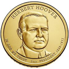 "Presidential Dollar Uncirculated Roll 25 "" D "" Mint #31 2014 Herbert C Hoover"