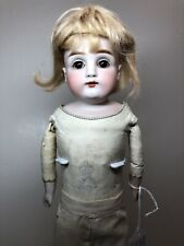 "13.5"" Antique Kestner Bisque Doll Germany JDK 154 1 1/4 Leather Body Mohair #Sf"