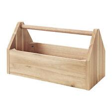 IKEA skogsta STORAGE in legno massello con scatola con maniglia, acacia, 40x20x23cm NUOVO
