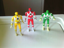 Mighty Morphin Power Rangers Bandai Flip Head 1993 Rangers Green, Red, & Yellow