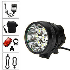 15000Lm 9x CREE XM-L T6 LED Head Bicycle Lamp Bike Light Headlamp Torch 6*18650