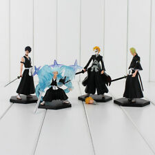 Bleach Anime Set of 4 Figures Kurosaki Ichigo PVC Figure Action Figures Toy