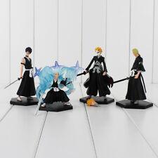 Bleach Anime Set of 4 Figures Kurosaki Ichigo PVC Figure Action Figures Toy