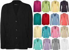 Button Long Sleeve Jumpers & Cardigans Plus Size for Women
