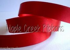 """4 yards of Red 1/4"""" Double Face Satin Ribbon 1/4"""" x 4 yards"""