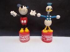 Disney Retro Style Wooden Thumb Toys Mickey & Donald & Pluto c