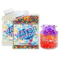 Water Aqua Soil Crystal Bio Gel Balls Beads Decoration Vase Filler Rainbow Mix
