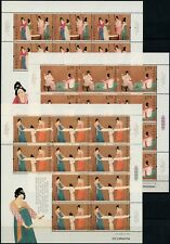 China PRC 2013-8 Seide Gemälde Silk Painting 4450-4452 Kleinbögen Postfrisch MNH