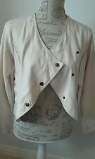 H&M Women's Beige oatmeal jacket Shrug Size EUR 34 UK 8 Excellent condition