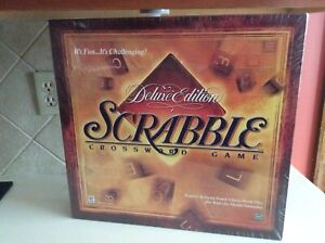 NIP - 1999 Deluxe Edition Scrabble Crossword Game Rotating Board - SEALED