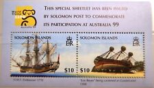 SOLOMON ISLANDS 1999 Block 55 S/S 873 AUSTRALIA 99 Ships Schiffe Endeavour MNH