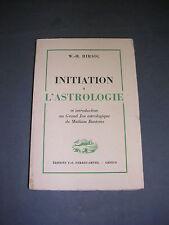 Astrologie jeu astrologiques Mathias Bontems W. H. Hirsig initiation 1943
