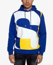 Sean John Men's Cobalt Blue & Yellow Pop Over Hoodie Sz. 3XL