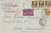 GERMAN EXPRESS COVER  1920  OBERSTDORF CANCELS