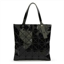 New Geometric Laser Women Shoulder Bag Purse PVC Totes Handbags Black
