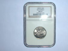1999-D 25C New Jersey State Quarter NGC MS 67