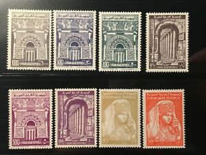 Syria stamps 1961-63 SC C255-C262 MNH very fine