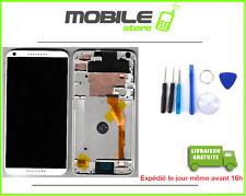 ECRAN LCD + VITRE TACTILE + CHASSIS FRAME pour HTC DESIRE 816 BLANC + OUTILS