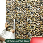 3d Cobblestone Self-adhesive Waterproof Wall Sticker Bathroom Home Decoration.