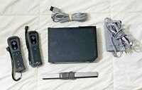 Nintendo Wii Console (RVL-001, Black) 2 Motion Plus Wii Remotes CLEANED & TESTED