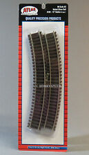 "ATLAS HO CODE 83 15"" RADIUS CURVE 6 sections nickel silver brown ties train 530"