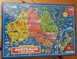 Australia and New Zealand Map Jigsaw Puzzle 500 Piece - New & Sealed