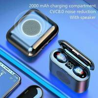 G6 Wireless Bluetooth 5.0 Earphone In-ear Stereo Noise Display Reduction H7J0
