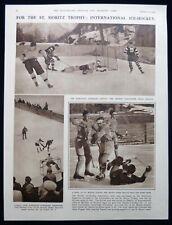 Edmonton Superiors Britain Ice Hockey Match St Moritz Trophy Photo Article 1933