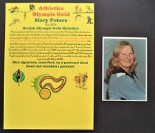 PETERS MARY N IRELAND PENTATHLON OLYMPIC GOLD MEDAL 1972 SIGNED PROMOPHOTO