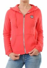 X0142a Converse Damen Sweatjacke Sweat Jacke Kapuze Hooded Zipper S, hell pink