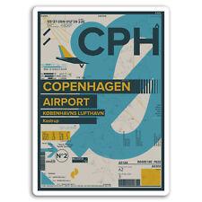 2 x 10cm Copenhagen Airport Vinyl Stickers - CPH Sticker Laptop Luggage #17188