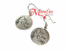 ONCE UPON A TIME FAIRYTALE QUOTE EARRINGS WORD CASTLE GRACEFUL OUAT JEWELRY