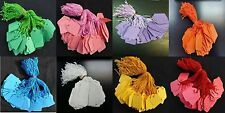 Coloured Strung String Kraft Tags Swing Price Tickets Jewellery Tie On Labels