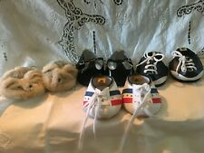 Lot of 4 Pairs Build-A-Bear Saddle, Dressy, Sneaker, Shoes & Slippers