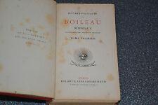 OEUVRES POETIQUES DE BOILEAU DESPREAUX  TOMES 1 et 2  dans le même ouvrage