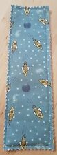 GALACTIC/SPACE ROCKET  FABRIC QUILTED BOOKMARK BRAND NEW HANDMADE 8.5IN 2.5IN
