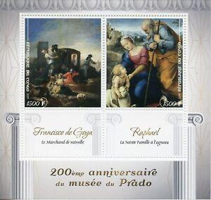 Congo 2019 MNH Prado Museum Raphael Francisco de Goya 2v M/S Art Stamps