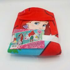 "LITTLE MERMAID ARIEL DISNEY Hooded Bath Towel Wrap 22"" x 51"" NWT"