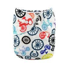 ALVA Baby Boy Cloth Diaper Reusable Washable Nappy+1Insert Bycycles