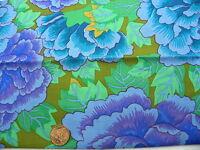 Fat Quarter Kaffe Fassett Kimono Cobolt Turquois - Rowan Cotton Quilting Fabrics