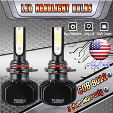 9012 HIR2 1000W 150000LM LED Headlight Kit High Low Beam Bulbs 6000K HID White
