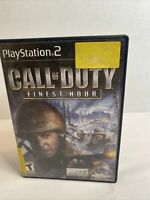 Call of Duty: Finest Hour (Sony PlayStation 2, 2004) COMPLETE Tested