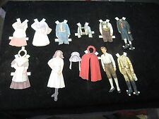 Antique Vintage Paper Doll Assortment European Early 1900's