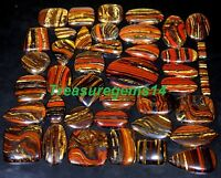 250 CT WHOLESALE LOT NATURAL RED MULTI FIRE IRON TIGER EYE CABOCHON GEMSTONE AAA